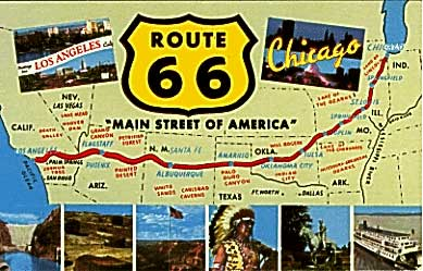 Route 66 Attractions Map