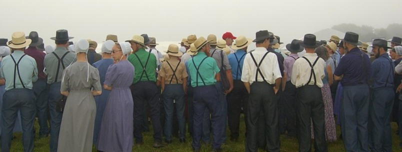 Group of Amish people
