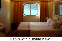 Cabin with outside view