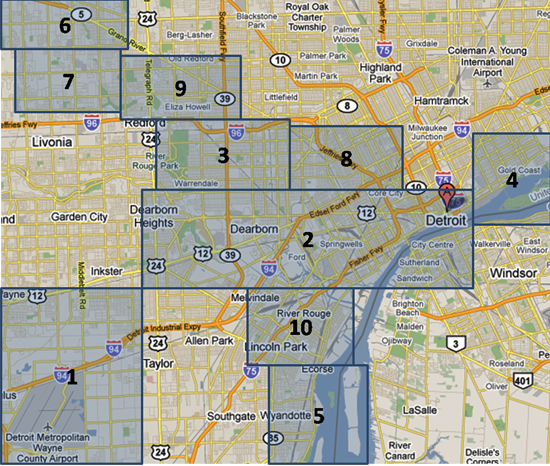 Detroit Map Areas