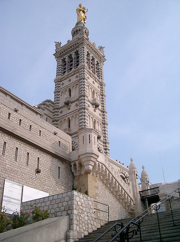 The highest point in Marseille, Notre Dame de la Garde (Our Lady of the Guard)