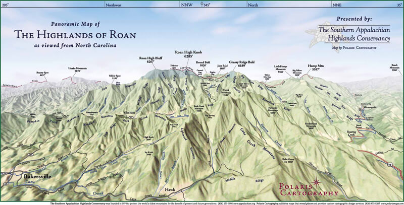 NC Highlands of Roan map