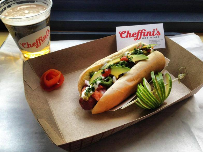 Cheffini's delicious hotdog