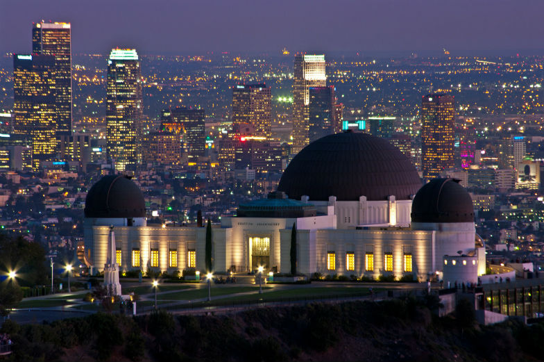 Griffith Park and Observatory at night