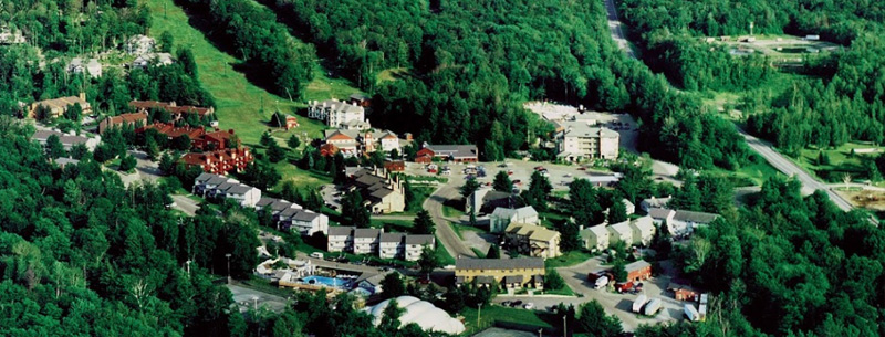 Aerial view of Family Activities at Smugglers' Notch Resort; photo by Smugglers' Notch Resort