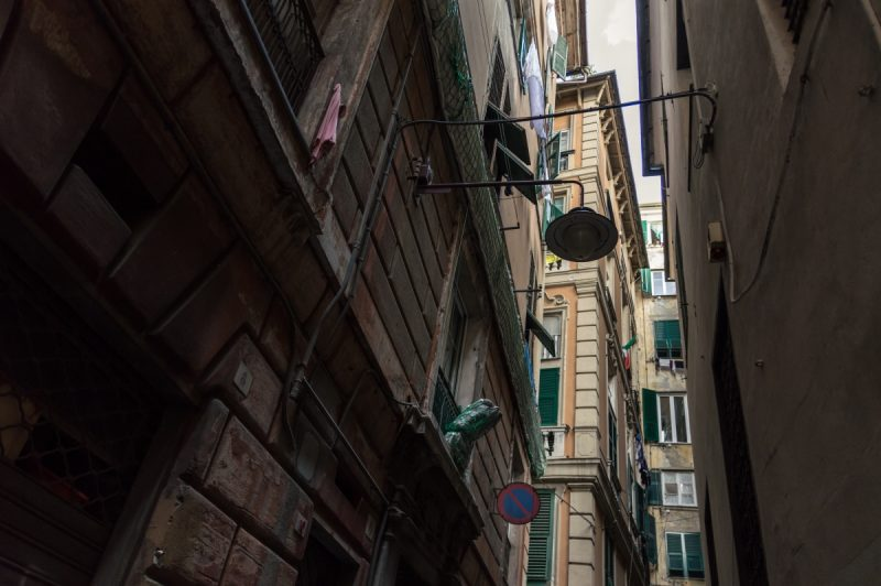 Alley in Genoa Italy
