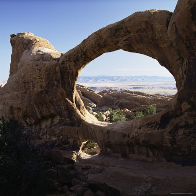 Double O Arch, Arches National Park, Utah, United States of America (U.S.A.), North America