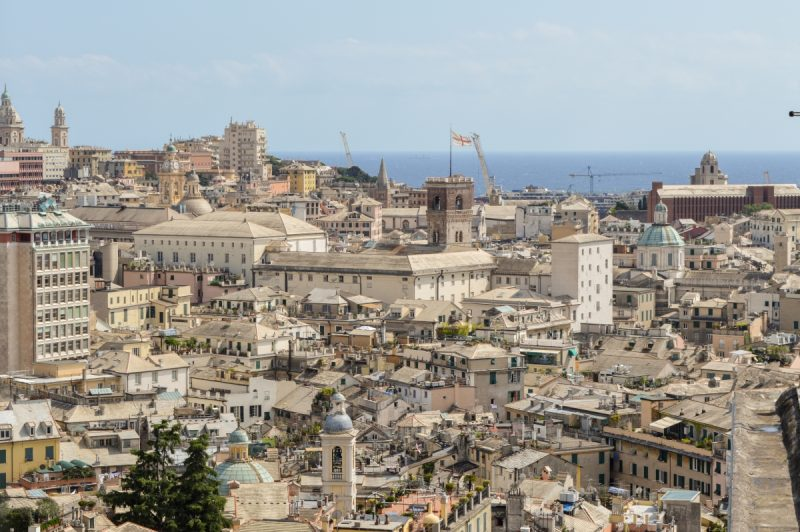 Genoa Italy from Castelletto