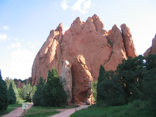 North Gateway and Sentinel Rock in Garden of the Gods