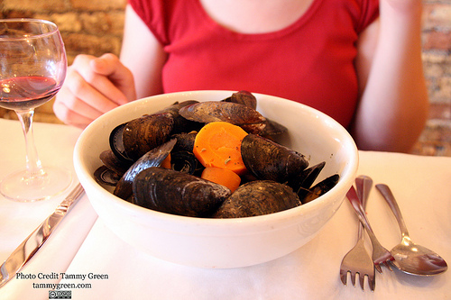 Amsterdam Style Mussels at HB