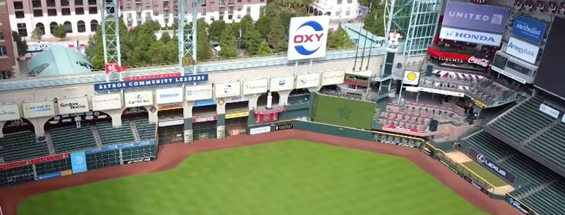 Minute Maid Park in Houston, Texas