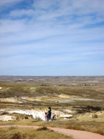 View of the plains from Paint Mines Park