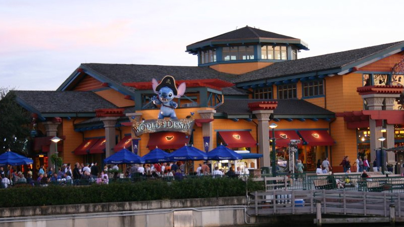 Pirate Stitch entrance to World of Disney in Downtown Disney Marketplace