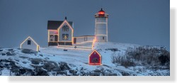 Lighting of the Nubble at Christmas