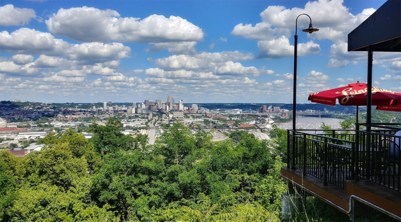 A Panoramic View of Cincinnati from the Incline Public House Restaurant