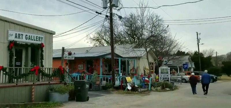 Shopping on The Square in Wimberley, Texas